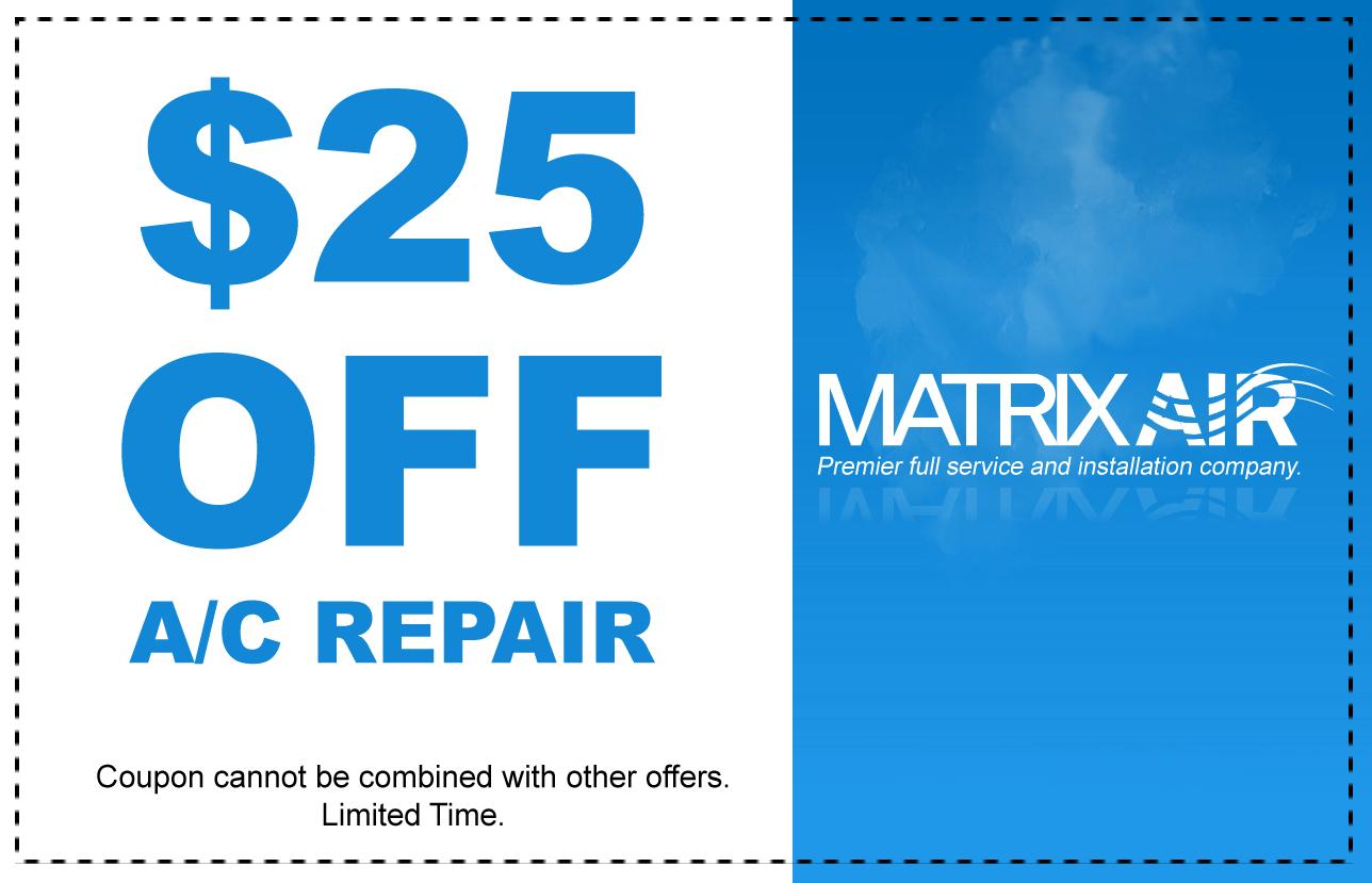 $25 Off AC Repair